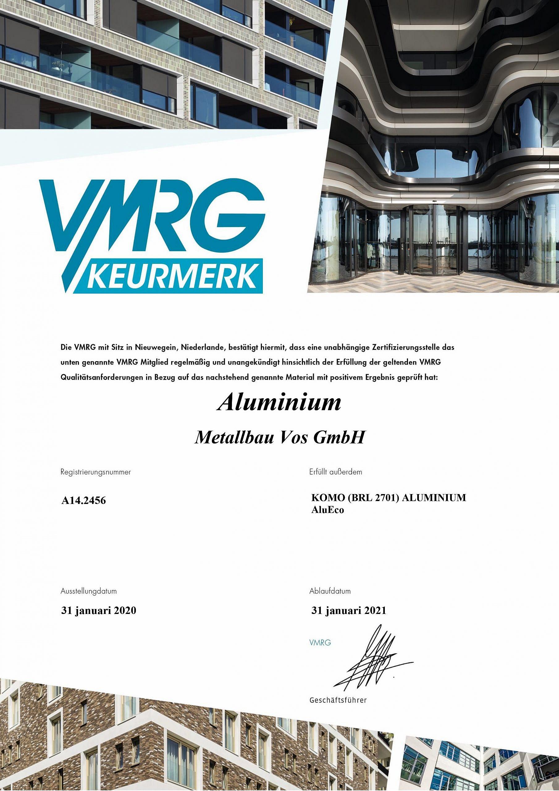 VMRG Aluminium